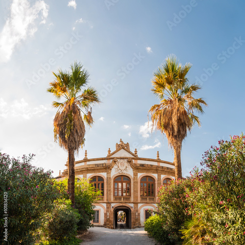 Tuinposter Palermo The Villa Palagonia is a patrician villa in Bagheria, 15 km from Palermo, in Sicily, southern Italy. Villa is one of the earliest examples of Sicilian Baroque.
