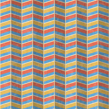 Seamless Abstract Zigzag Pattern In Bold Modern Colors, Folded Effect, Textured Vector Illustration