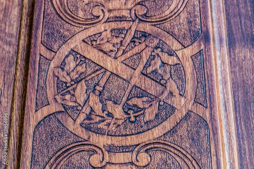 Fotografija  Freemasonry door entrance detail