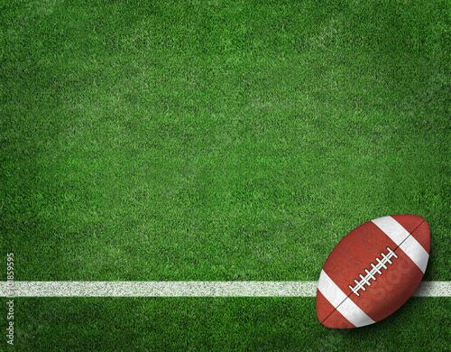 American Football on American Football Field Tablou Canvas