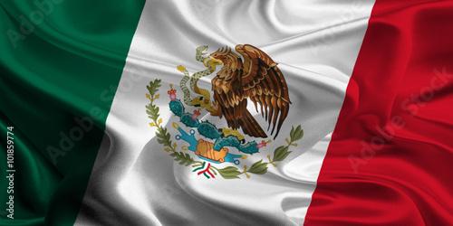 Pinturas sobre lienzo  Flag of Mexico