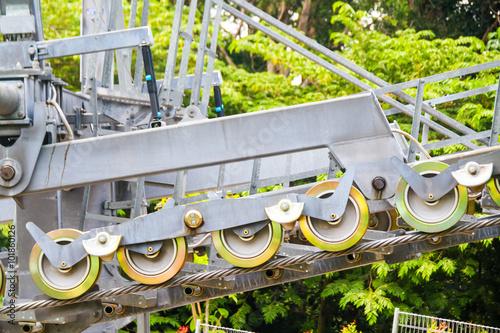 Valokuva  sling wheel lobe of Thule Cable Car.