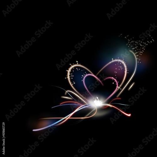 Fotobehang - abstract heart shape