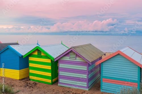 Poster Australie Brighton small bathing houses, Australia