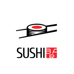 Fototapeta Do sushi baru Vector logo, design element for sushi restaurant, Japanese cuisine