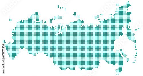 Obraz Russland in Punkten - Türkis - fototapety do salonu