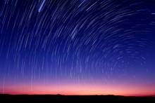 Beautiful Star Trail Image Dur...