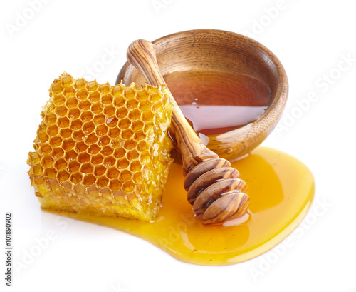 Photo Honey with honeycombs