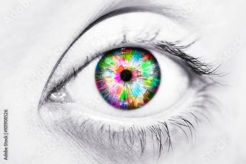Fototapeta Close-up krásné barevné lidského oka
