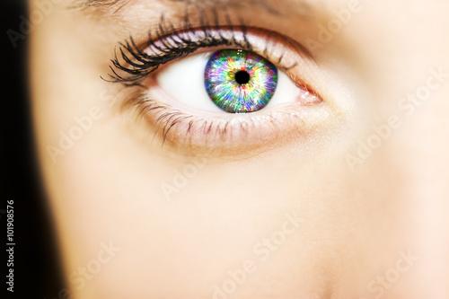 Obraz na plátně Close-up krásné barevné lidského oka