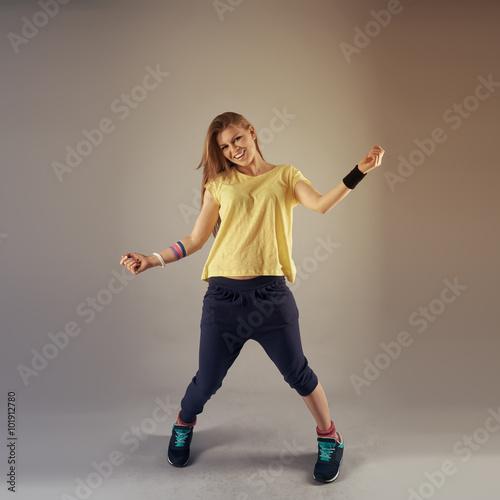 Fényképezés  Fitness dance exercise at studio