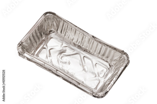 isolated Empty aluminium foil