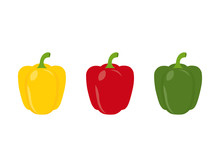 Set Of Three Peppers. Yellow, ...