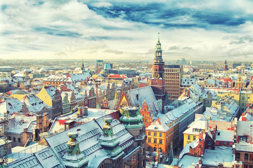 Poland. View of Wroclaw
