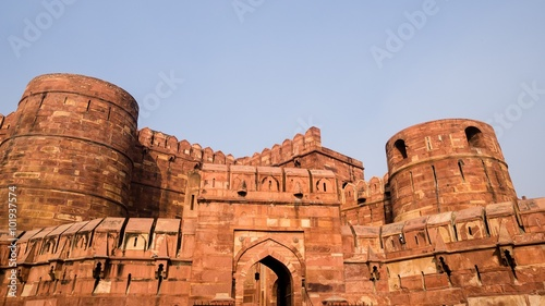 Visiting the red fort in Agra
