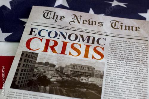 Pinturas sobre lienzo  Economic Crisis