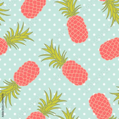 ananasy-i-wzor-z-kropek