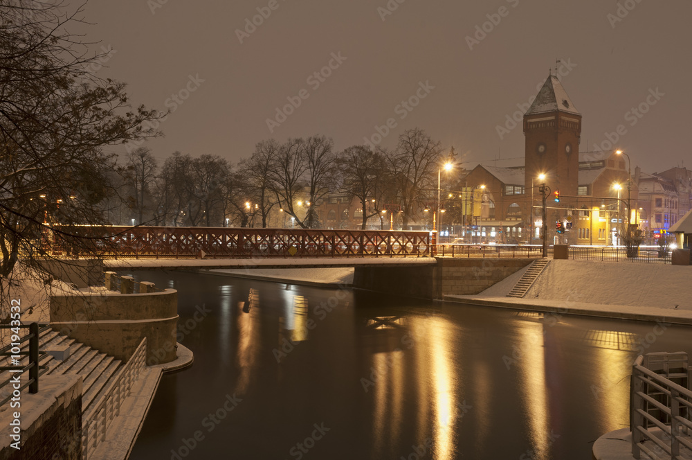 Miasto Nocą 101943532 Wrocław Plakat Grafiniapl