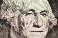 Washington's Portrait On Dollar