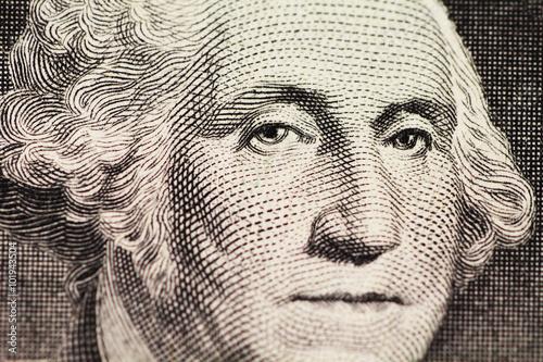 Photo  Washington's portrait on dollar