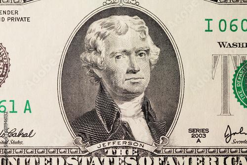 Photo  Jefferson's portrait on dollar