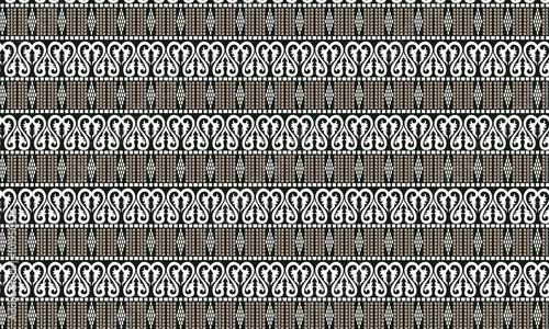 Batik Batak Indonesia Vector Pattern Wallpaper Mural