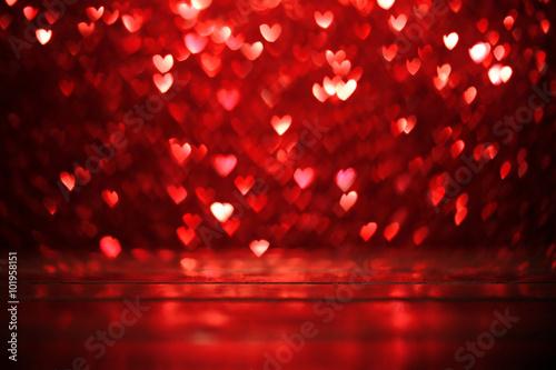 Fotografie, Obraz  Červené srdce pozadí