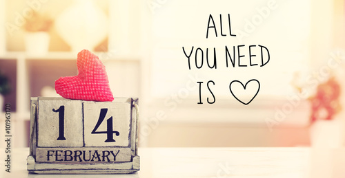 Photo  Valentines Day message