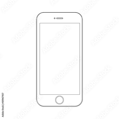Photo  Phone on a white background with lines