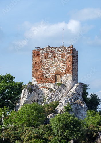 old brick tower in Mikulov town in Czech Republic Poster