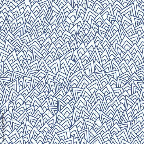 Foto auf AluDibond Boho-Stil Hand drawn geometric seamless pattern
