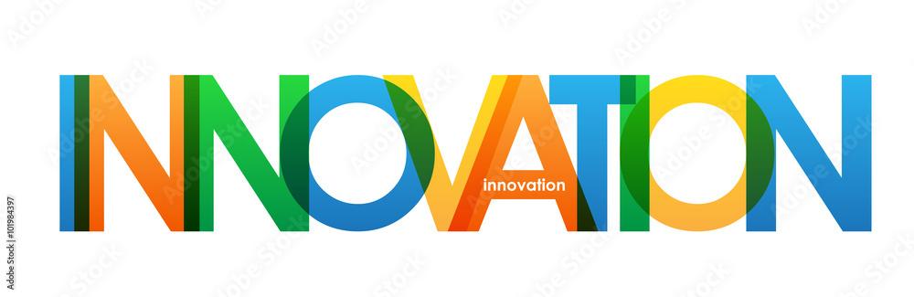 Fototapeta INNOVATION Overlapping Bright Vector Letters