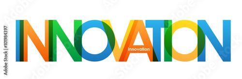 Fototapeta INNOVATION Overlapping Bright Vector Letters obraz