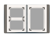 Photo Album Pages With Retro Photo Frames. Vector