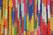 Colorful Thai plastic garland