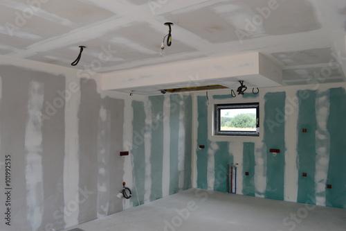 Plafond en plâtre