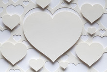 White Hearts - Valentine's Day Background