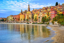 Colorful Medieval Town Menton ...