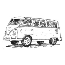 Retro Bus. Picture Of Vintage ...