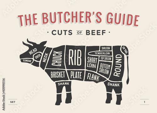Fotografie, Obraz  Cut of beef set