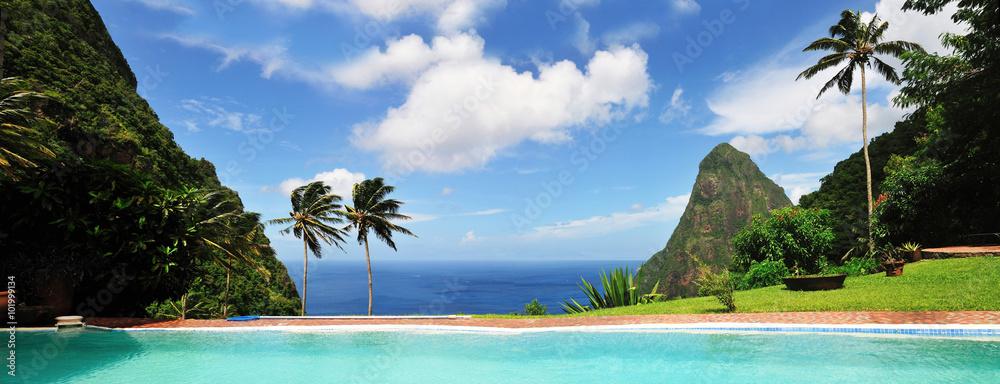 Fototapeta Saint Lucia, a Paradise Island