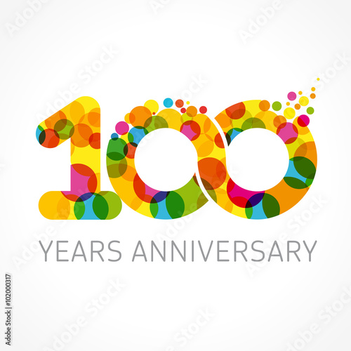 Poster  100 years anniversary infinity color logo
