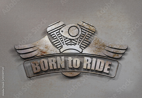 Born to Ride - Emblem - Rost P Poster