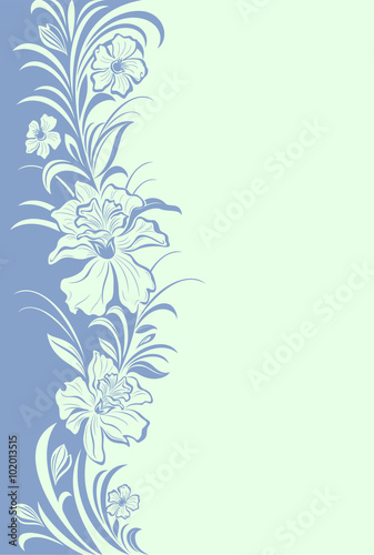 Abstract Floral Background Cute Floral Invitation Card