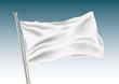 Blank white flag vector