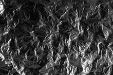 Crumpled Aluminum Foil Background