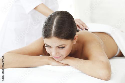 Fotografie, Obraz  Spa masáž horkými kameny
