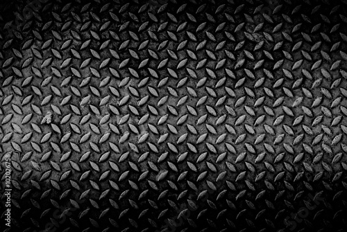 Foto auf Gartenposter Metall grungry metal diamond plate