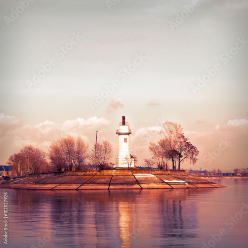 Volzhsky lighthouse. - 102027926