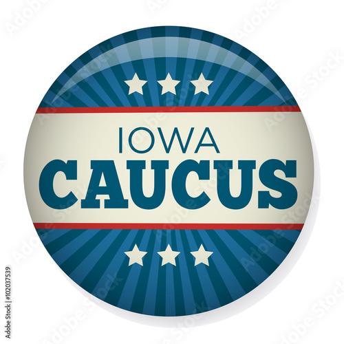 Fotografie, Obraz Retro or Vintage Style Iowa Caucus Campaign Election Pin Button or Badge